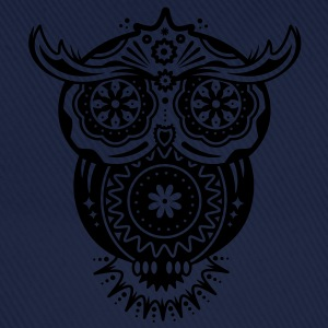 Owl in the style of Sugar Skulls Shirts - Baseball Cap
