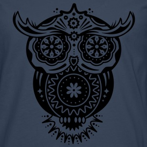 Owl in the style of Sugar Skulls Shirts - Men's Premium Longsleeve Shirt