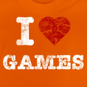 i love games vintage light T-shirts - Baby-T-shirt