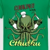 Kelly green Cooking with Cthulhu! Shirts - Kids' Premium T-Shirt