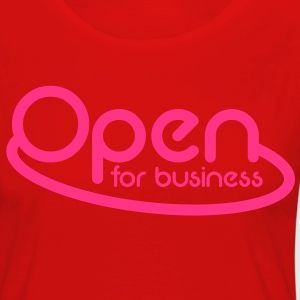 neon open for business in neon pink Shirts - Women's Premium Longsleeve Shirt