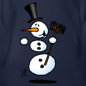 Dancing snowman Shirts - Organic Short-sleeved Baby Bodysuit