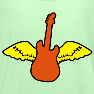 rockabilly country guitar with wings angel Shirts - Women's Tank Top by Bella
