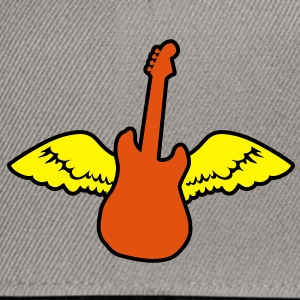 rockabilly country guitar with wings angel Shirts - Snapback Cap