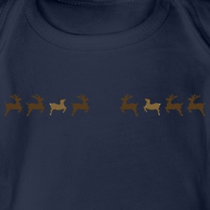 Reindeer 1 Shirts - Organic Short-sleeved Baby Bodysuit