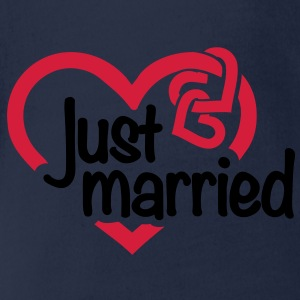 Just married Hochzeit T-Shirts - Baby Bio-Kurzarm-Body