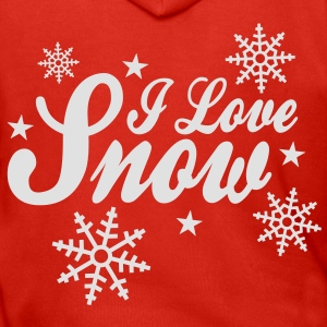 I love snow with snowflakes ii Shirts - Men's Premium Hooded Jacket