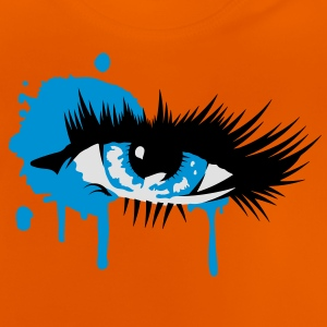 A colored eye with long eyelashes Shirts - Baby T-Shirt
