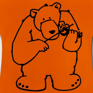 The bear plays violin Shirts - Baby T-Shirt
