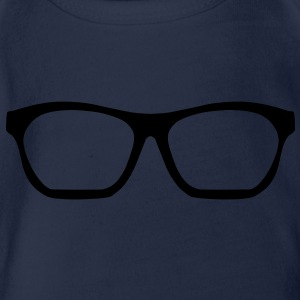 Geek Glasses Shirts - Organic Short-sleeved Baby Bodysuit