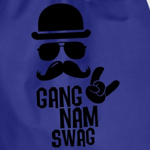 Like a Gangnam swag style boss moustache t-shirts Shirts - Drawstring Bag