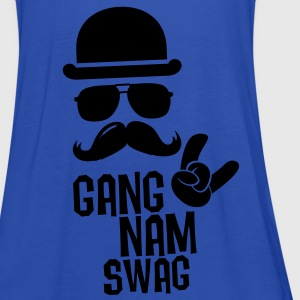 Like a Gangnam swag style boss moustache t-shirts Shirts - Women's Tank Top by Bella