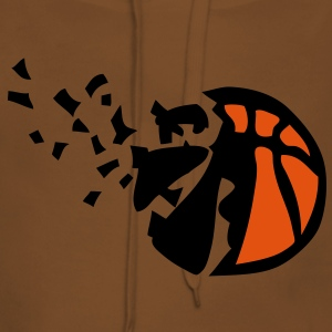 explosion ballon basketball destructurer Tee shirts - Sweat-shirt à capuche Premium pour femmes