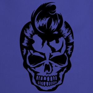 A skull with a rockabilly haircut Shirts - Cooking Apron