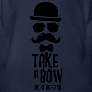 Like a swag bow tie moustache style boss t-shirts Shirts - Baby bio-rompertje met korte mouwen
