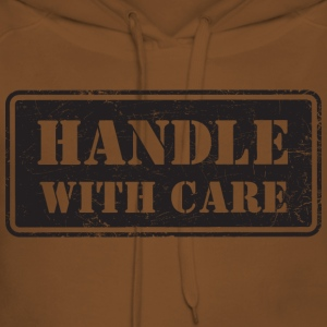 Handle With Care - Grungy Distressed Look - Women's Premium Hoodie