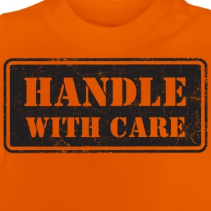 Handle With Care - Grungy Distressed Look - Baby T-Shirt