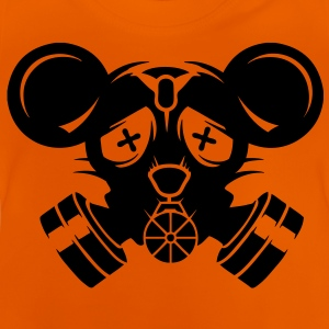 A gas mask with big mouse ears Shirts - Baby T-Shirt