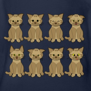 cat mood Shirts - Baby bio-rompertje met korte mouwen