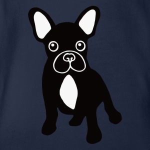 French bulldog Shirts - Organic Short-sleeved Baby Bodysuit