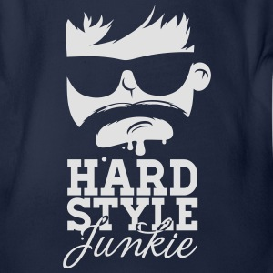 i love hardstyle dubstep moustache dance musik T-Shirts - Baby Bio-Kurzarm-Body