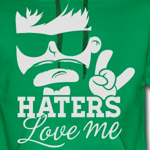 Like a haters love hate me moustache boss sir Tee shirts - Sweat-shirt à capuche Premium pour hommes