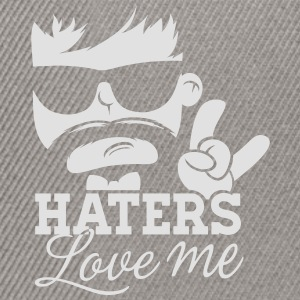 Like a haters love hate me moustache boss sir Shirts - Snapback cap