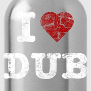 I Love DUB vintage light T-shirts - Drikkeflaske