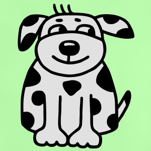 Black and white spotted dog - V2 Shirts - Baby T-Shirt