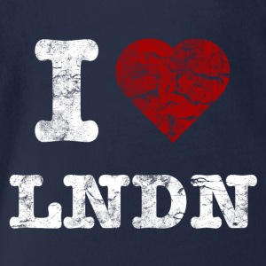 I Love LoNDoN vintage light Camisetas - Body orgánico de maga corta para bebé