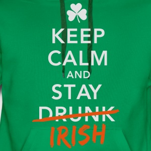 love keep calm drunk celtic irish st patricks day Shirts - Men's Premium Hoodie