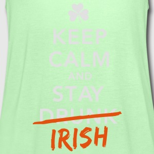 love keep calm drunk celtic irish st patricks day Shirts - Women's Tank Top by Bella