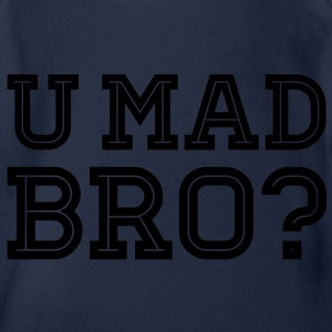Like a cool you mad geek story bro typography Shirts - Baby bio-rompertje met korte mouwen