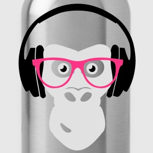 gorilla with headphones T-shirts - Drikkeflaske