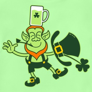 Leprechaun Balancing a Glass of Beer on his Head S - Baby T-Shirt