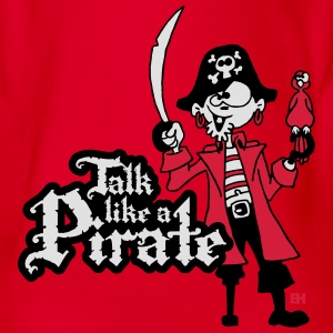 Talk like a Pirate T-shirts - Ekologisk kortärmad babybody