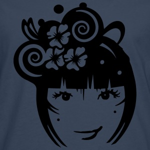 Girl with hair jewelry and flowers Shirts - Men's Premium Longsleeve Shirt