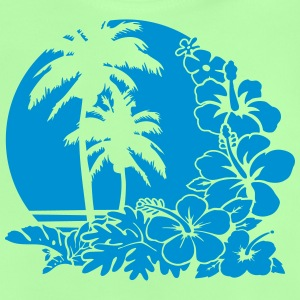 palm sunset ocean T-shirts - Baby-T-shirt