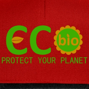 eco bio protect your planet Shirts - Snapback cap