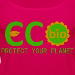 eco bio protect your planet Magliette - Canotta premium da donna