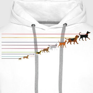Dogs on a leash 2 T-Shirts - Men's Premium Hoodie