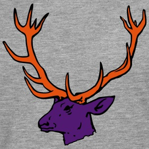 Deer Head 3 colors T-Shirts - Men's Premium Longsleeve Shirt