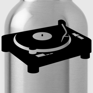 Turntable turntable DJ CD Vinyl T-Shirts - Water Bottle