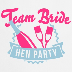 Weiß Team Bride - Hen Party T-Shirts T-Shirts - Kochschürze