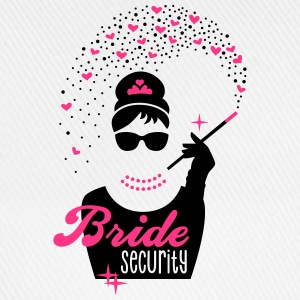 Bride Security - Braut - JGA - Tiffany - Herz -2 T-Shirts - Baseball Cap