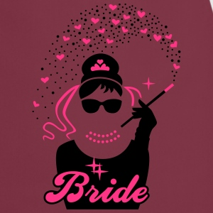 Bride - Braut - JGA - Security - Tiffany - Herz -2 T-Shirts - Cooking Apron