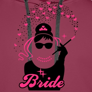 Bride - Braut - JGA - Security - Tiffany - Herz -2 T-Shirts - Men's Premium Hoodie
