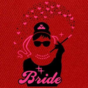 Bride - Braut - JGA - Security - Tiffany - Herz -2 T-Shirts - Snapback Cap
