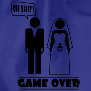 Wedding with baby inside - oh shit - game over T-shirts - Gymtas