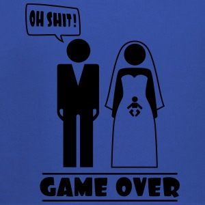 Wedding with baby inside - oh shit - game over T-shirts - Kinderen trui Premium met capuchon